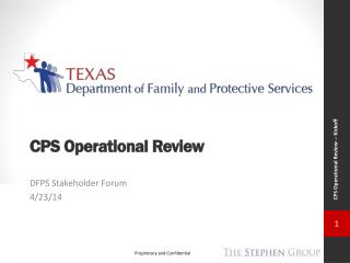 CPS Operational Review