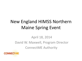 New England HIMSS Northern Maine Spring Event