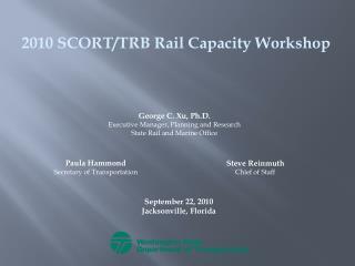 2010 SCORT/TRB Rail Capacity Workshop
