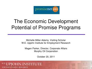 The Economic Development Potential of Promise Programs