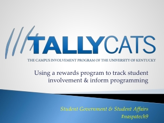 Using a rewards program to track student involvement & inform programming Student Government & Student Affairs #naspate