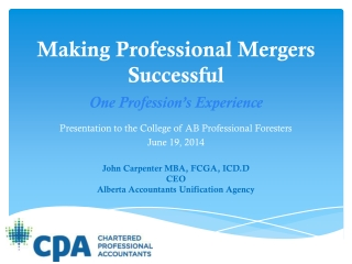 Making Professional Mergers Successful