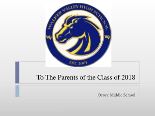 To The Parents of the Class of 2018