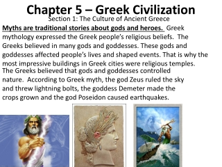 Chapter 5 – Greek Civilization