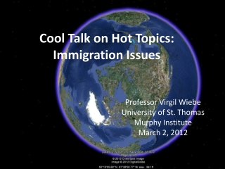 Cool Talk on Hot Topics: Immigration Issues