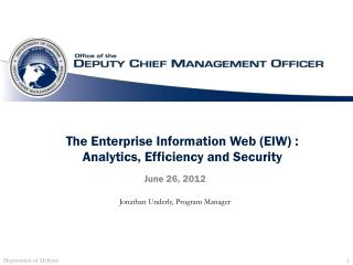 The Enterprise Information Web (EIW) : Analytics, Efficiency and Security