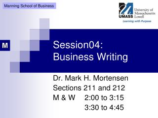Session04: Business Writing