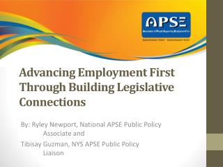 Advancing Employment First Through Building Legislative Connections