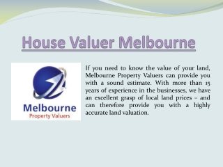 House Valuers Melbourne