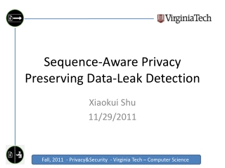 Sequence-Aware Privacy Preserving Data-Leak Detection