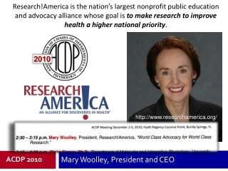 Mary Woolley, President and CEO