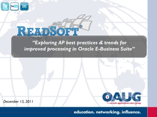 """Exploring AP best practices & trends for  improved processing in Oracle E-Business Suite"""