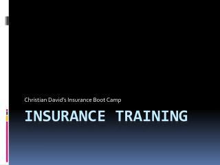 Insurance Training