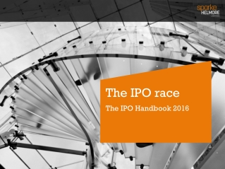 The IPO race The IPO  Handbook 2014