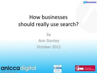 How  businesses should  really use search?