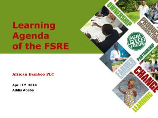 Learning Agenda  of the FSRE