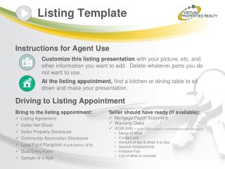 Listing Template