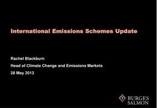 International Emissions Schemes Update