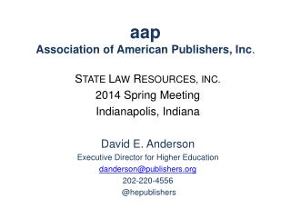 aap Association of American Publishers, Inc .