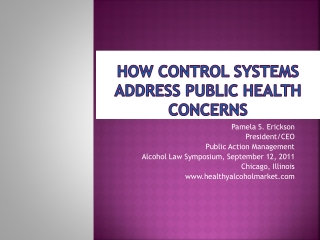 How Control systems  address Public Health Concerns