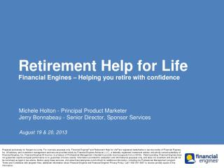 Retirement Help for Life Financial Engines – Helping you retire with confidence
