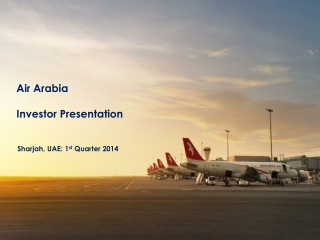 Air Arabia Investor Presentation