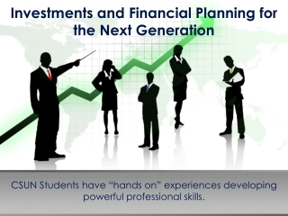 Investments and Financial Planning for the Next Generation