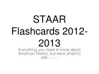 STAAR Flashcards 2012-2013