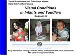 visual conditions  in infants and toddlers  session 3