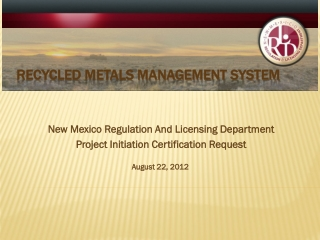 Recycled Metals Management System