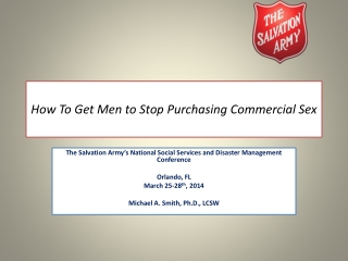 How To Get Men to Stop Purchasing Commercial Sex