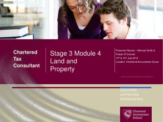 Stage 3 Module  4 Land and Property