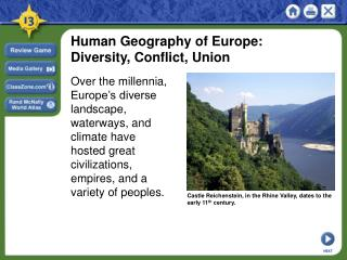 Human Geography of Europe: Diversity, Conflict, Union