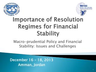 Importance of Resolution Regimes for Financial Stability