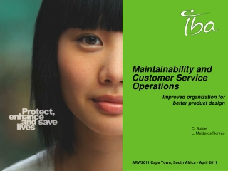 Maintainability and Customer Service Operations