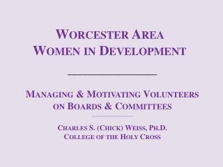 Worcester Area  Women in Development