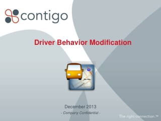 Driver Behavior Modification
