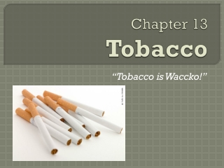 Chapter 13 Tobacco
