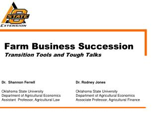 Farm Business Succession Transition Tools and Tough Talks