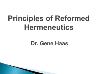 1. the need for hermeneutics
