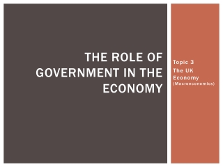 The Role of Government in the Economy