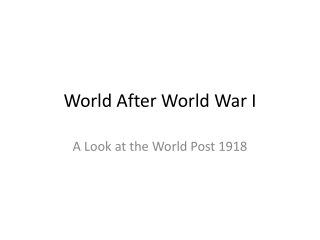 World After World War I