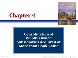 Consolidation of  Wholly Owned  Subsidiaries Acquired at More than Book Value