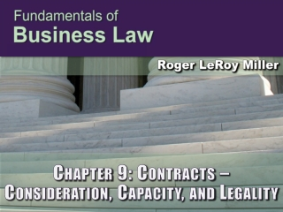 Chapter 9: Contracts – Consideration, Capacity, and Legality