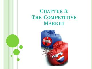 Chapter 3: The Competitive Market