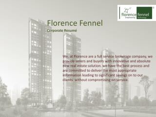 Florence Fennel Corporate Resumé