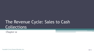 The Revenue Cycle: Sales to Cash Collections