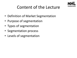 Content of the Lecture