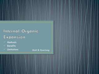 Internal/Organic Expansion