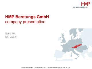 HMP Beratungs GmbH company presentation